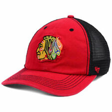 a7b7713cf25 NHL Chicago Blackhawks  47 Closer Stretch Fit Mesh Hat Mens L xl Red Black