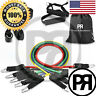P&R FITNESS - 11 PCS Resistance Bands Set Home Gym Exercise Tube Bands Training