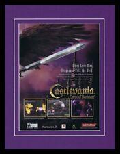 Castlevania Curse of Darkness 2005 PS2 11x14 Framed ORIGINAL Advertisement