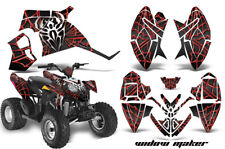 ATV Decal Graphic Kit Quad Wrap For Polaris Outlaw 90 110 All Years WIDOW RED