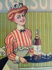 magnifique tôle litho ancienne cognac JULES GILSON no plaque émaillée cremnitz
