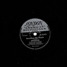 """FONTANE SISTERS 78 """" SEVENTEEN / IF I COULD BE WITH YOU """" UK LONDON HL-D 8177 V+"""