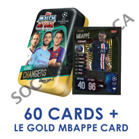 2019-20 TOPPS MATCH ATTAX CHAMPIONS LEAGUE GAME CHANGER MEGA TIN 60 CARDS MBAPPE