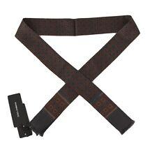 NEW $220 DOLCE & GABBANA Scarf Blue 100% Silk Red Pattern Skinny Necktie 140x25