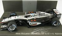 MINICHAMPS - WEST McLAREN Mercedes MP 4-17 - original signiert - Räikkönen 1:43