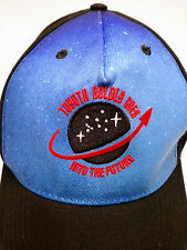 TOYOTA BOLDLY GOES INTO THE FUTURE Hat Cap Adjustable Blue Black Space Trucker