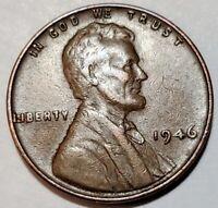 1946 - LAMINATION PEEL - LINCOLN WHEAT CENT MAJOR MINT ERROR  #9176
