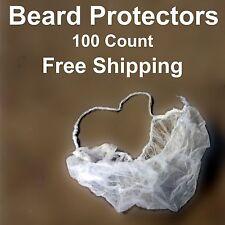 100 Beard Nets White Food Service Lab Spun Poly Disposable Emerald Bc104