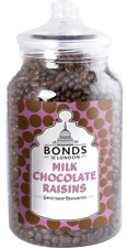 BONDS - CHOCOLATE RAISINS- 2.1KG JAR, TRADITIONAL SWEETS,GIFT, XMAS