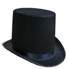 Tuxedo Silk Satin Black Top Hat Roaring 20s Adult Child Formal Costume Magician