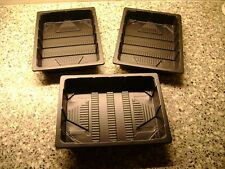 5 X HALF SIZE QUALITY LIGHTWEIGHT SEED TRAYS (  NO HOLES  ) GRAVEL TRAYS