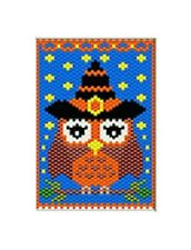 Cute Little Witch Owl Pony Bead Banner Pdf Pattern Only