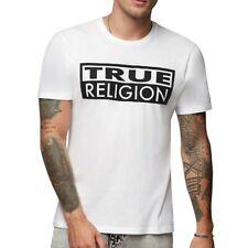True Religion Men's Box TR Logo Tee T-Shirt in White