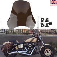 """Motorcycle Smoked Windshield Windscreen Mount Universal For 7/8""""&1"""" Handlebars"""