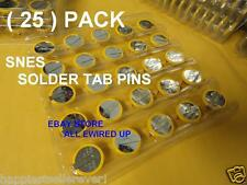 ( 25 ) Nintendo SNES Backup Save Game Battery Solder Tabs Pins Repair Kit CR2032