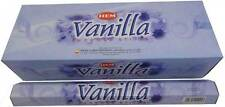 LOT OF 120 Stick VANILLA Incense HEM ~ 6 TUBE OF 20 Sticks = 120 FRESH STICK