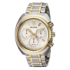 Bulova 98A157 Men's Curv Silver Dial Two Tone Steel Chronograph Watch