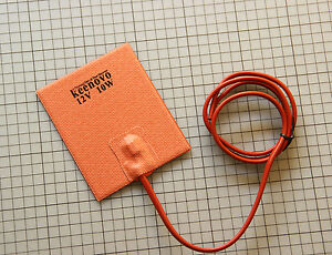100X120mm 10W 12V KEENOVO Silicone Pad Honey BeeHive Warmer Heater,w/ 50C T-stat