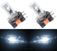 LED 30W H15 White 5000K Two Bulbs Light DRL Daytime Running Lamp Replace OE