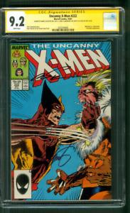 Uncanny X Men 222 CGC 3XSS 9.2 Stan Lee Claremont +1 Wolverine v Sabretooth 1987