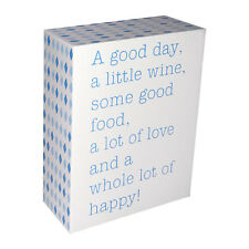 INSPIRATIONAL FUN WOODEN BLOCK SIGN, FREE STANDING, HANGING- GREAT GIFT IDEA