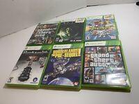Lot of 6 Microsoft Xbox 360 Games 5/6 Complete, CIB - Tested - Alien, GTA, Rock