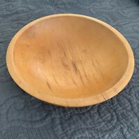 "Munising 11.5"" X 10.5"" Oval Wooden Wood Primitive Dough Bowl Vintage Off Round"