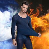 New Men's Soft Ultra thin Slim Warm Thermal Top & Bottom Long John Underwear Set