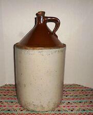 "Vtg 4 Gallon Crock Jug Glazed Stoneware Ceramic Moonshine Original Cork 19""High"