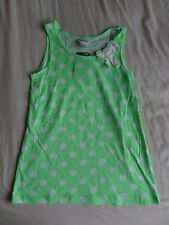 H&M Conscious Collection Green Sleeveless 100% Cotton Vest Top Size 10-12 Years