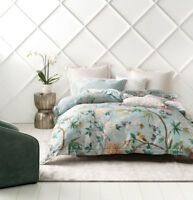 Grace by Linen House Kaili Sky Queen King Super King Quilt Cover Set NEW
