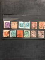 QV Stamps GB & Commonwealth Off Paper Selection x 12 #S7