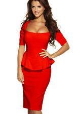 Robe Soiree Rouge Ebay