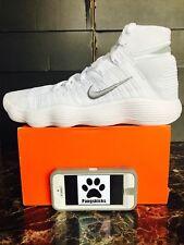 e8a84613b5fe Mens Nike Hyperdunk 2017 Flyknit Shoes Size 12 White Silver 917726 100