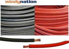 80' 4 AWG WELDING CABLE  40' Red 40' Black GAUGE COPPER WIRE BATTERY SOLAR LEADS