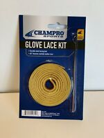 "Champro A012 Glove Baseball/Softball Lace Kit Steel Lacing Tool Tan 48"" Leather"