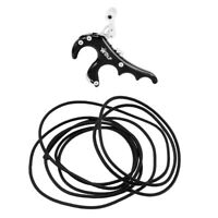 Thumb Button Archery Release Aid + Bow String D Loop Rope Material Black