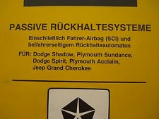 Werkstatthandbuch Dodge Shadow Spirit Plymouth Sundance Jeep Grand Cherokee  94