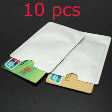 10Pcs RFID Secure Protector Blocking ID Credit Card Sleeves Holder Case Skin New