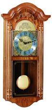 (New!) HARTFIELD Chiming Oak Wall Regulator Clock Hermle Clocks 70736-I9Q