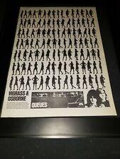 Vigrass & Osborne Queues Rare Original Promo Poster Ad Framed!
