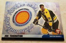 2003-04 Topps Pristine Popular Demand Jersey Boston Bruins Joe Thornton PD-JT