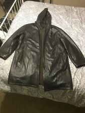 SALVATORE FERRAGAMO  Leather Jacket With hood Stadium jacket type Size 50