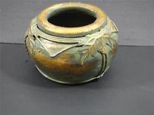 Antique Old Vintage Chinese Bronze Vase Jar Handmade Palms CHINA