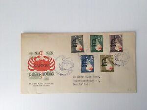 Netherlands 1955 FDC CANCER STAMPS  high catalog