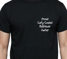 Orgulloso Curly-coated Retriever propietario T Shirt propietario de perro Regalo Raza Negro