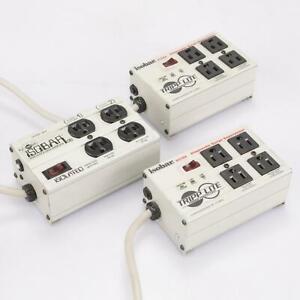 3 Tripp-Lite Isobar 4 Ultra 4-Outlet Diagnostic Surge Protectors #43312