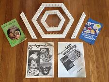 "4 Pieces Vintage Love & Money Hexagon Lap Weaving Loom Kit 13"" and 7 1/2"" + 11"""