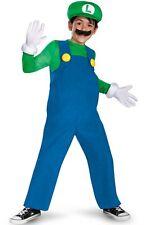 LUIGI DELUXE COSTUME Boys Medium Halloween Super Mario Video Game Child 67822