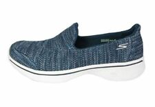 Skechers GOwalk 4 Womens Walking Shoes Ladies Pumps Trainers Size 5 Navy Blue